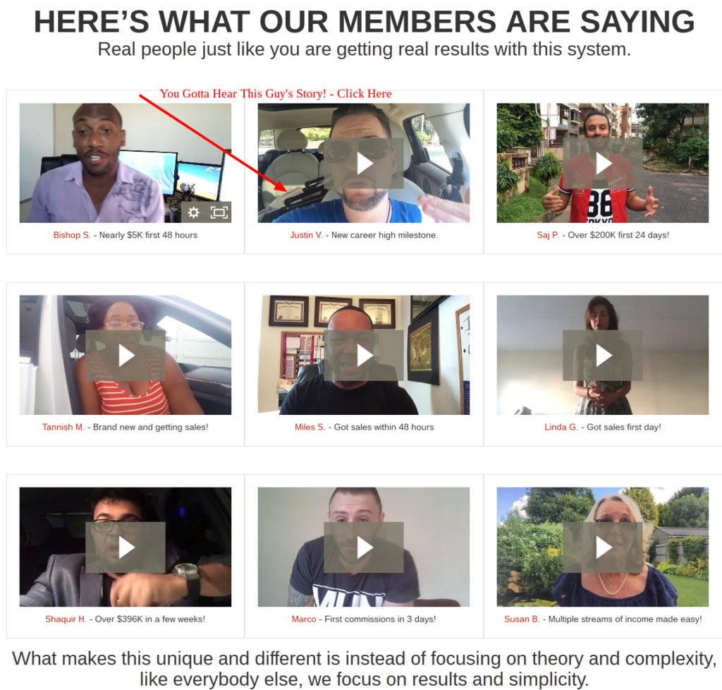 Four percent group testimonials